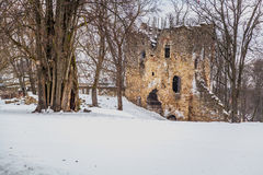 Tower. Old tower at winter.Cesis Castle Royalty Free Stock Photos