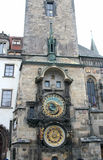 Tower Orloj in Prague. Tower with hours Orloj in Prague, the Czech republic Stock Photo