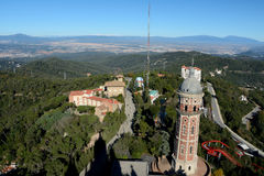 Tower and other buildings at Tibidabo in Barcelona, Spain Stock Photography