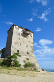 Tower of Ouranoupoli in Greece Royalty Free Stock Images