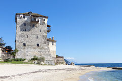 Tower of Ouranoupolis at Chalkidiki, Greece Stock Images
