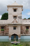 Tower over the ancient pool at taman sari water castle - the royal garden of sultanate of jogjakarta Royalty Free Stock Photography