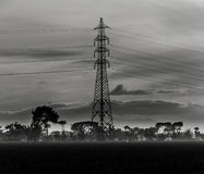 Tower at paddy field. On village Stock Image