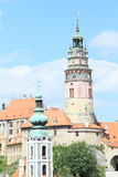 Tower of palace in Cesky Krumlov royalty free stock photos