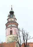 Tower of palace in Cesky Krumlov Stock Images
