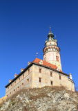 Tower of palace in Cesky Krumlov Royalty Free Stock Photo