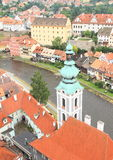 Tower of palace in Cesky Krumlov Royalty Free Stock Photography