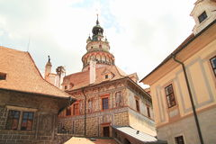 Tower in palace in Cesky Krumlov Royalty Free Stock Photos