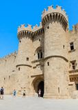 Tower Palace of  Grand Masters. Old Town. Rhodes Island. Greece Royalty Free Stock Images