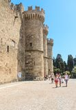 Tower Palace of the Grand Masters. Old Town. Rhodes Island Royalty Free Stock Photos