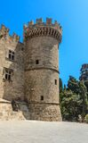 Tower Palace of the Grand Masters. Old Town. Rhodes Island Royalty Free Stock Images