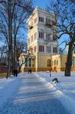 Tower of Palace and Park ensemble, winter landscape, Gomel, Bela Royalty Free Stock Image