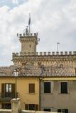 Tower of Palazzo Pubblico, San Marino Royalty Free Stock Image