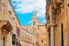 Tower of Palazzo Santa Sofia in Mdina Malta. Tower of Palazzo Santa Sofia in Mdina, Malta Stock Photography