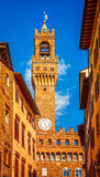 Tower of Palazzo Vecchio in Florence. Italy Stock Photo