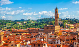 Tower of Palazzo Vecchio in Florence Stock Photography