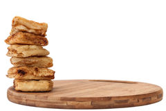 The tower of the patella fried in oil Stock Photo