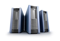 Tower pc cases. My own design. Royalty Free Stock Photos