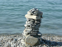 Tower of pebble stones Royalty Free Stock Photo