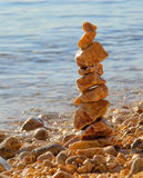 Tower from pebbles. At the beach Stock Photography