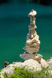 Tower from pebbles. At the beach Royalty Free Stock Photo