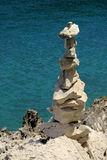 Tower from pebbles. At the sea Royalty Free Stock Photos