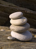 Tower of pebbles Royalty Free Stock Images