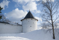 Tower of Pechorsky monastery Royalty Free Stock Photos