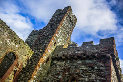 A tower of Peel Castle at Peel, Isle of Man Royalty Free Stock Photography
