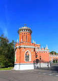 Tower of the Petrovsky Travelling Palace in Moscow Stock Image
