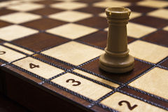 Tower piece in chess game.  Royalty Free Stock Photography