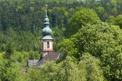 Tower of the pilgrimage church of Maria Hilf Royalty Free Stock Image