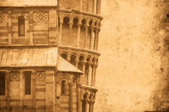Tower of Pisa. Retro look of the Tower of Pisa Stock Images