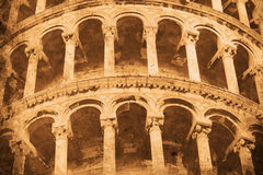 Tower of Pisa. Retro look of the Tower of Pisa Royalty Free Stock Photography