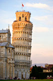 The Tower of Pisa. Is the bell tower of the Cathedral. both because of its inclination, and its beauty, from 1173 up to the present the Tower has been the Stock Photos