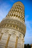 Tower of Pisa. Leaning Tower of Pisa, on the backdrop of a blue sky Stock Image