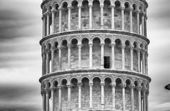 Tower of Pisa from ancient city walls Stock Images
