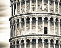 Tower of Pisa from ancient city walls Royalty Free Stock Photo