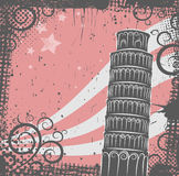 Tower of Pisa background Royalty Free Stock Photo