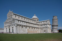 Tower of Pisa and Dome Royalty Free Stock Photo