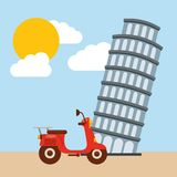 Tower of pisa icon. Italy culture design. Vector graphic Stock Photo