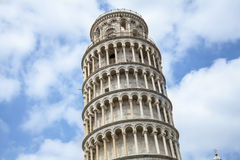Tower of pisa. Torre pendente. Piazza dei Miracoli complex with baptistery, cathedral and tower of Pisa, Italy Royalty Free Stock Photo