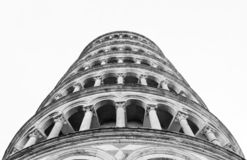 Tower of Pisa view from the bottom Stock Photography