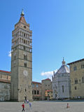 Tower in Pistoia, Italy. Old architecture Stock Photo