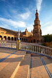 Tower at Plaza de Espana, Sevilla Stock Images