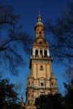 Tower of Plaza de Espana, Sevilla, Spain Stock Image