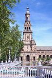 Tower of the plaza de Espana in Seville Royalty Free Stock Image