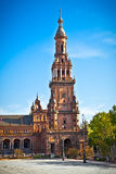 Tower of  Plaza de Espana, Seville, Seville Province, Spain. Stock Photography