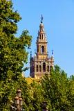 Tower of Plaza de Espana, Seville Royalty Free Stock Photography
