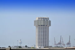 Tower in the port  of Jeddah. Tower in the port city of Jeddah Royalty Free Stock Photo
